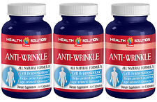 Vitamin A - ANTI WRINKLE NATURAL FORMULA - 3 Bottles, 180 Cap.