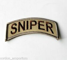 US ARMY SNIPER SPECIAL OPS DESERT FORCES PATCH 4 X 1.5 INCHES