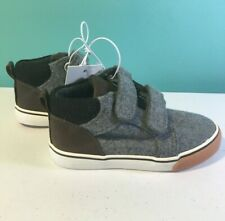 Cat & Jack Baby Toddler Boy Grey Harrison Ankle Shoes Gray Brown Sneakers New