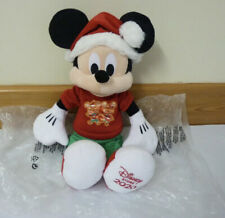 Disney Store Mickey Mouse Holiday Cheer Plush Cuddle Soft toy Christmas Santa BN