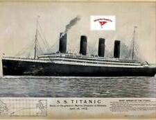 RMS Titanic set of old Lithographs, Beautiful Replicas 1912