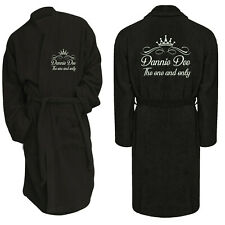 Dressing Gown Bathrobe Luxury Custom Embroidered Personalised Toweling Spa Hotel