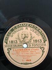 78 GIRI COMMEMORATIVO sopr. F.CHIESA ten. C.ALBANI basso L.MANFREDI I LOMBARDI