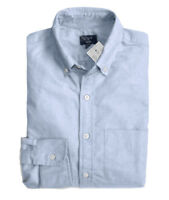 J.Crew Factory - Mens L - Regular Fit - NWT - Light Blue Oxford Cotton Shirt