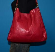 COACH Madison PHOEBE Raspberry Red Leather Satchel Tote Purse Shoulder Bag 26224