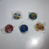 Vintage Set of 5 Looney Tunes 1999 Pin-Back Buttons Mil-LOONEY-um 2000