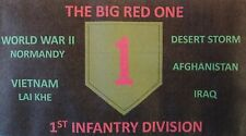 1ST INFANTRY DIVISION  3'X5' 2PL POLYESTER 1-SIDED INDOOR 4 GROMMET FLAG