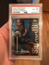 Manny Ramirez - PSA 8 - 1994 Upper Deck Electric Diamond #23 - Free Shipping!