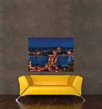 POSTER PRINT PHOTO CITYSCAPE LANDMARK BUDAPEST HUNGARY SZECHENYI BRIDGE SEB689