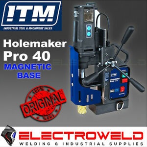 HOLEMAKER PRO 40 MAGNETIC BASE DRILL HOLE ANNULAR CUTTER STEEL DRILLING HMPRO40
