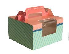 "Pink/Blue Bakery Box 6"" cheesecake box / cake box / cookies box/ gift box/ 6cts"