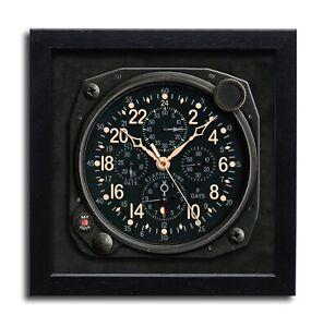 Classic Aircraft Wall Clock - ELGIN HAMILTON 24 hour Handmade England