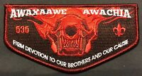 AWAXAAWE AWACHIA OA LODGE 535 TRAPPER TRAILS UTAH 2018 1/ ACTIVITY SERVICE FLAP