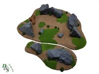 Wargames Terrain Scenery Large Resin Rocky Outcrops Bases x2 Warhammer Sigmar