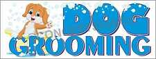 3'X8' DOG GROOMING BANNER Outdoor Sign LARGE Groomer Vet Clippers Dogs Pets Wash
