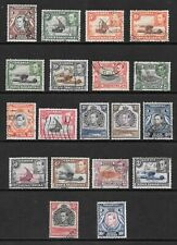 1938 King George VI SG131 to SG149b 10/-  Set of 19 Stamps Fine Used  KUT