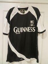 Euc Men Xl Guinness Soccer Shirt Black White Jersey Official Merchandise Ireland