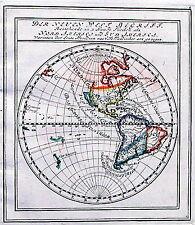 Antique map, Der Neuen Welt Begriff ..