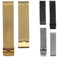 Fashion Mens Band Milanese Stainless Steel 18/20/22/24mm Wrist Watch Band Strap