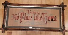Antique Victorian Punch Punched Paper There's No Place Like Home Motto Sampler