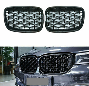 Black Front Center Grille Grill Replacement for BMW X5 E70 / X6 E71 2008-2013