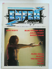 ENFER MAGAZINE n° 10 AC/DC Bon Scott Judas Priest Slayer Trust hard rock 1984