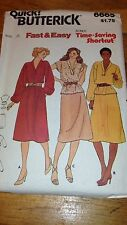 Quick Butterick 6665 Fast & Easy Misses Dress, Top & Skirt Pattern #458