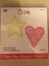 NEW! Retired Sizzix Bigz Die- Scallop Heart & Star #656375 NIB