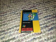 Super Mario World Super Nintendo SNES Manual PAL
