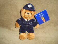 Harrods Bear's Day Out In London Policeman Plush & Beans With Tags 8""