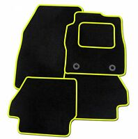 MAZDA 2 2007-2015 TAILORED CAR FLOOR MATS CARPET BLACK MAT + YELLOW TRIM