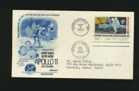 C76 Moon Landing Cachet 1969 Dual Cancel ADDRESSED Fleetwood Cachet First Day