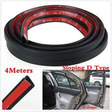 "157"" Sloping D Shape Car Door Window Trim Edge Moulding Rubber Weatherstrip Seal"