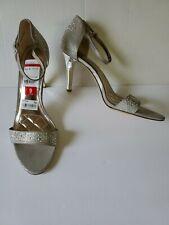 Alfani Pyrra Women's High Heel Sandals in Silver Metallic Size 9