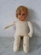 alte Puppe Wurfpuppe Babypuppe Mädchenpuppe Pappmache? weich gestopft baby doll