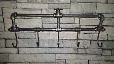 Garden Mile Retro Victorian Style Industrial Pipework Wall Mounted Coat Rack 5