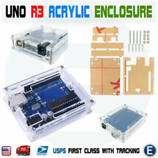 Transparent Case Enclosure Shell Acrylic Box Clear Cover For Arduino UNO R3 USA