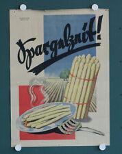 altes orig Plakat Spargelzeit ! Scharner Berlin