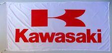 KAWASAKI FLAG WHITE/RED - SIZE 150x75cm (5x2.5 ft) - BRAND NEW