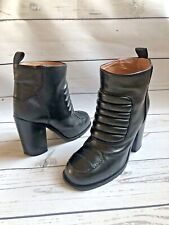 """£500 Laurence Dacade """"Elite"""" Boots, Black Leather Heeled Ankle Boots, Size 6, 39"""