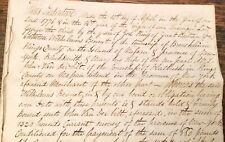 1776 NEW YORK HANDWRITTEN MANUSCRIPT BROOKLYN FLATBUSH VANDERBILT BENNET BLEEKER
