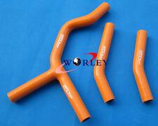 Orange Silicone Radiator Hose kit for KTM 125SX 200SX 2003-2006 2004 2005