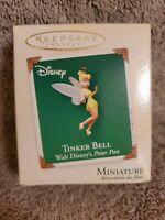 Tinker Bell Disney Peter Pan Miniature Keesake Hallmark Ornament + Card