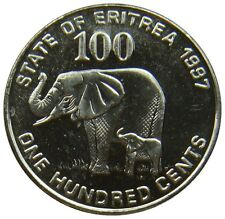(C78) - Eritrea - 100 Cents 1997 - Elephant Elefant - UNC - KM# 48