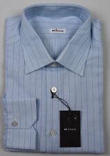 KITON Mens 2018 Handmade Linen Cotton Dress Shirt Size 18.5 NEW $750 SKU9-11
