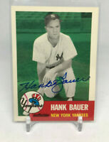 1991 Tops Archives Hank Bauer New York Yankees Autograph Auto 1953 #290