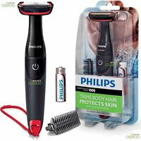 Philips Series 1000 BodyGroom Battery Cordless Body Hair Shaver Trimmer - BG105