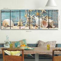 Framed canvas prints seascape print shell beach sand starfish modern wall art