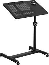 Flash Furniture Black Adjustable Height Steel Mobile Computer Desk Computer Desk