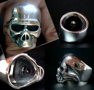 Keith Richards Skull Ring Sterling Silver Rolling Stones Rare Boon Jewelry 08